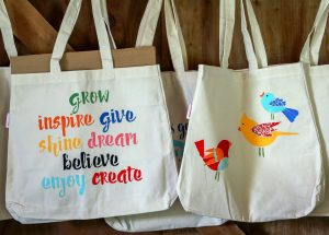 Painted Canvas Tote Bags